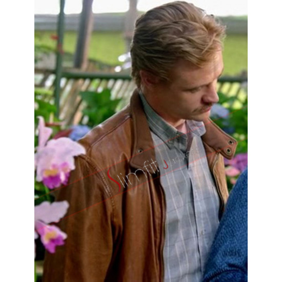 Narcos Boyd Holbrook Steve Murphy Brown Leather Jacket