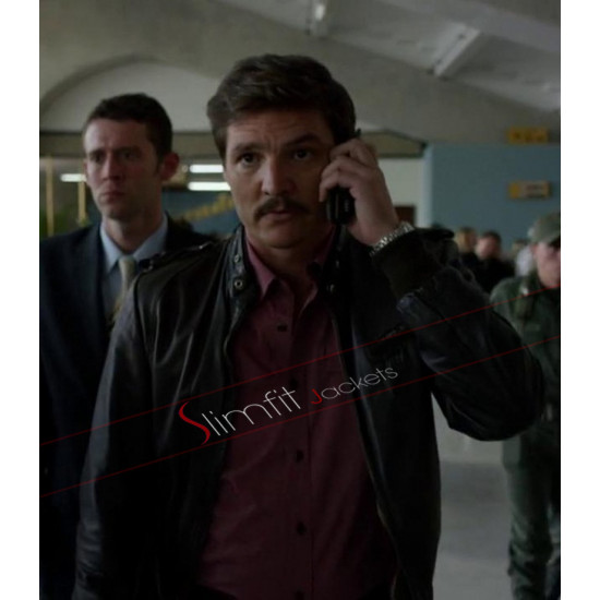 Narcos Pedro Pascal Javier Pena Biker Leather Jacket