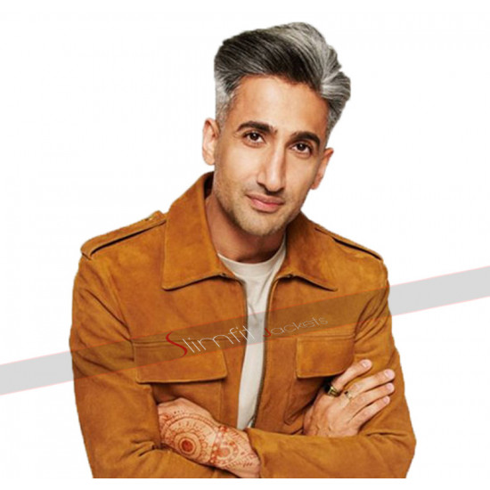 Queer Eye Tan France Leather Jacket