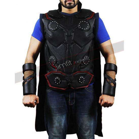 Avengers Infinity War Thor Chris Hemsworth Leather Costume Vest