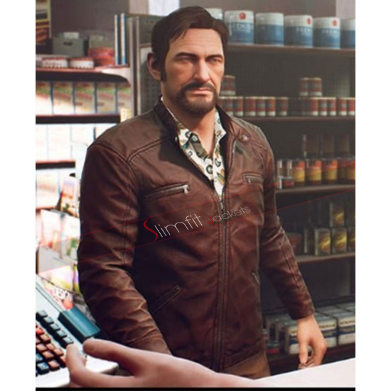 Video Game A Way Out Brown Leather Jacket