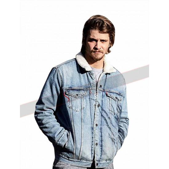 Yellowstone Luke Grimes (Cory Dutton) Denim Fur Collar Jacket