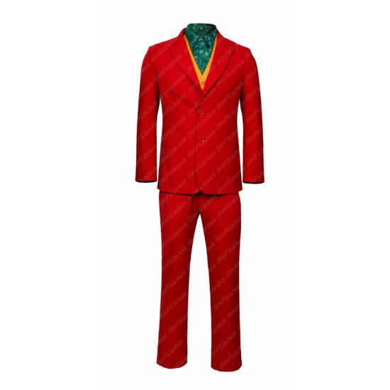 Joker 2019 Joaquin Phoenix Cosplay Halloween Red Suit