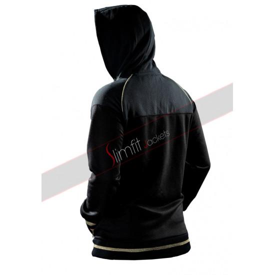 Avengers Endgame Quantum Realm Black Fleece Hoodie Jacket
