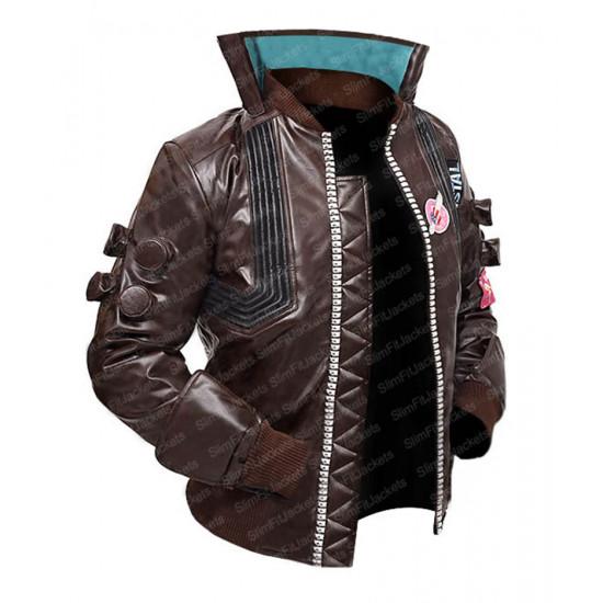 Cyberpunk 2077 V Samurai Cosplay Leather Halloween Costume
