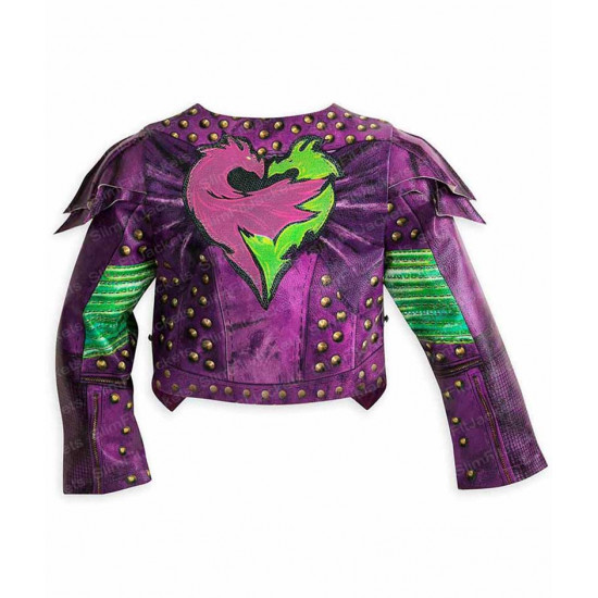 Disney; Descendants 2 Mal Studded Halloween Leather Jacket