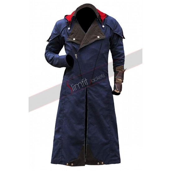 Assassin's Creed Unity Arno Dorian Victor Demin Hoodie Coat