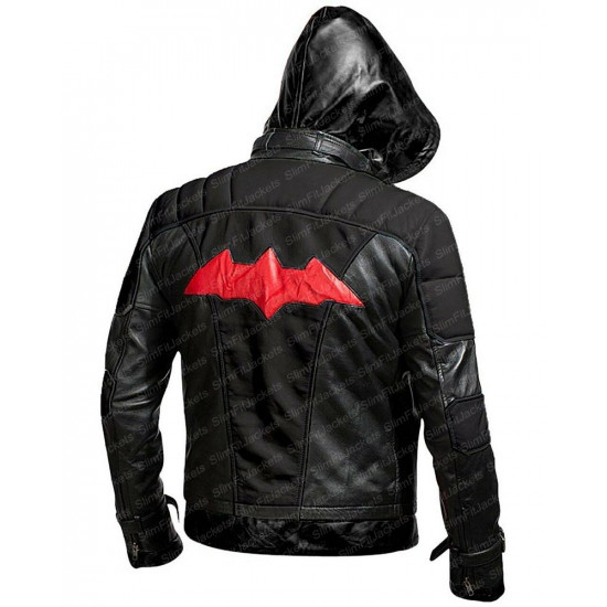 Batman Arkham Knight Black Leather Jacket