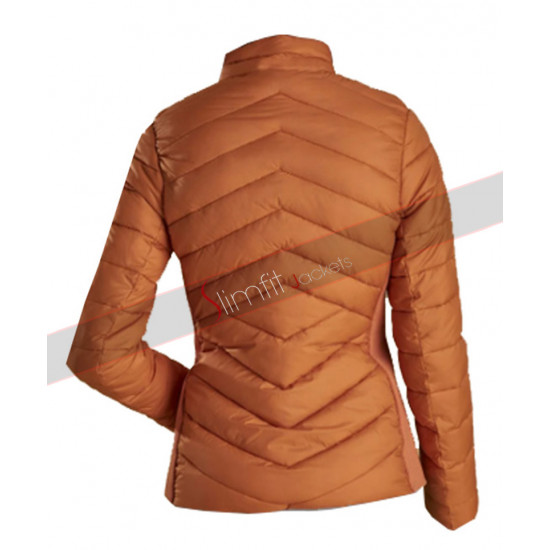 Longshore Quilted Bomber Brown Jacket