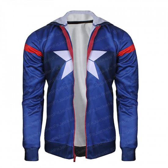 Avengers Captain America 2019 Hoodie Jersey Jacket