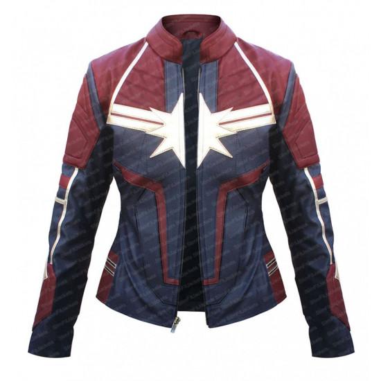 Captain Marvel Carol Danvers Leather Jacket- Avengers