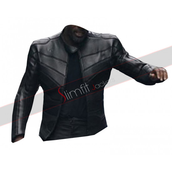 Hobbs And Shaw Idris Elba Black Leather Jacket