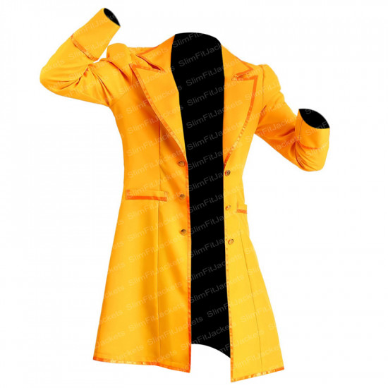 Alice in Wonderland Electric Mad Hatter Yellow Costume Coat