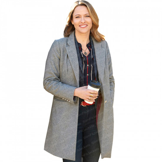 Mystery 101 Jill Wagner Grey Trench Coat