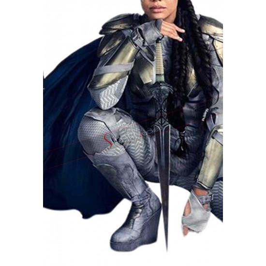 Tessa Thompson Avengers Infinity War (Valkyrie) Grey Leather Jacket