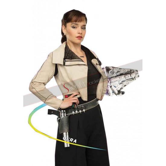 Emilia Clarke Solo A Star Wars Story Cotton Jacket