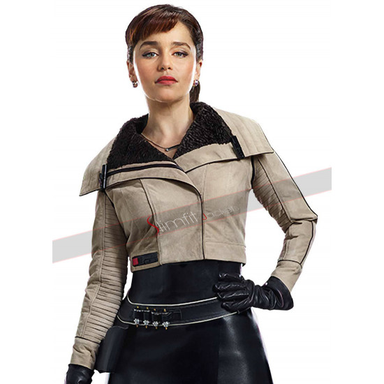 Emilia Clarke Solo A Star Wars Story Cotton Jacket