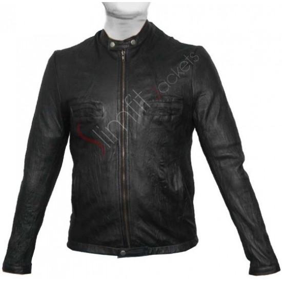 17 Again Zac Efron (Oblow) Black Leather Jacket