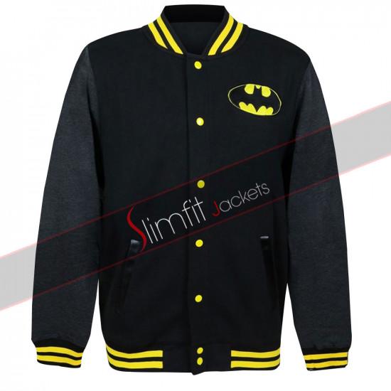 Batman the Dark Knight Logo Varsity Letterman College Jacket