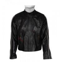 Fantastic Four Chris Evans (Johnny Storm) Black Biker Jacket