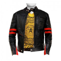 Fight Club Hybrid Mayhem Black Jacket With Red Stripes