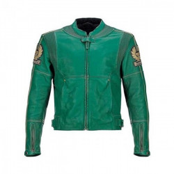 Javier Bardem The Counselor Racing Green Leather Jacket