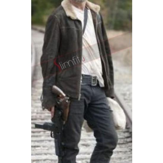 The Walking Dead Season 4 Rick Grimes Fur Jacket