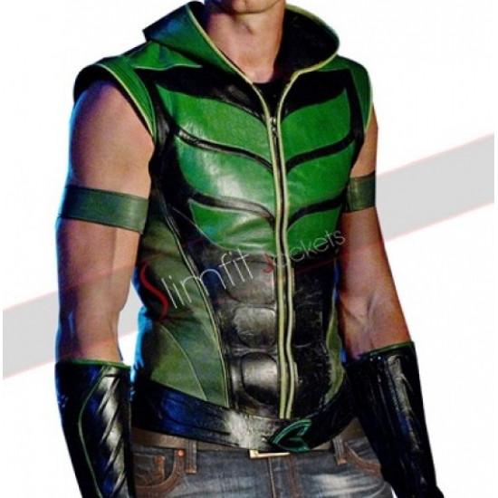 Smallville (Oliver Queen) Green Arrow Leather Costume Vest Sale