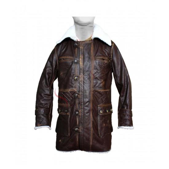 The Dark Knight Rises: Bane Distressed Cowhide Dark Brown Coat