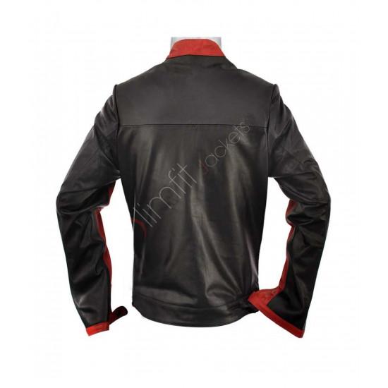 The Dark Knight Batman Black Motorcycle Leather Jacket