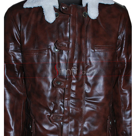 Bane Synthetic Faux Leather Coat from Dark Knight Rises