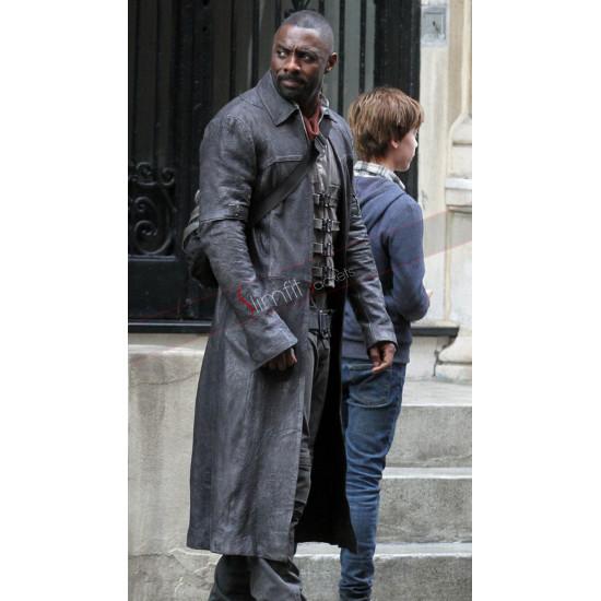 Idris Elba Dark Tower Leather Long Coat