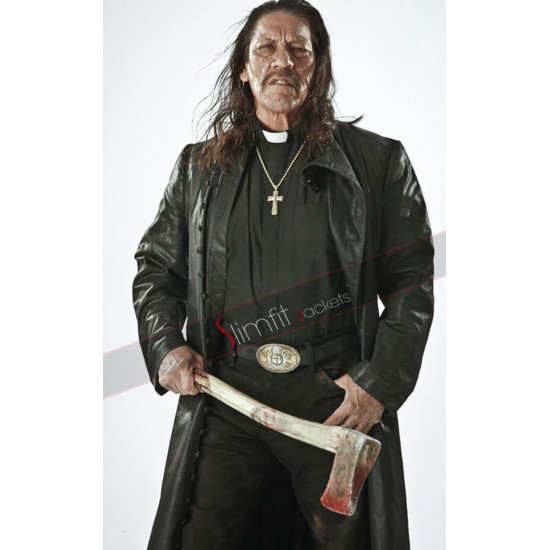 Zombie Hunter Danny Trejo (Jesus) Trench Coat