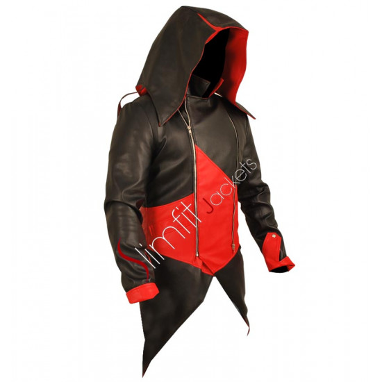 Assassin's Creed 3 Connor Kenway Black/Red Faux Jacket Costume