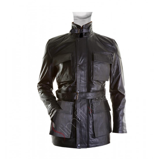 Bane Black Leather Jacket from The Dark Knight Rises