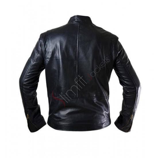 Ironman 1 Tony Stark Replica Black Leather Jacket