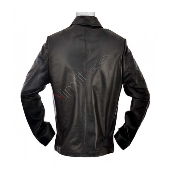 Replica Layer Cake Daniel Craig Black Leather Jacket