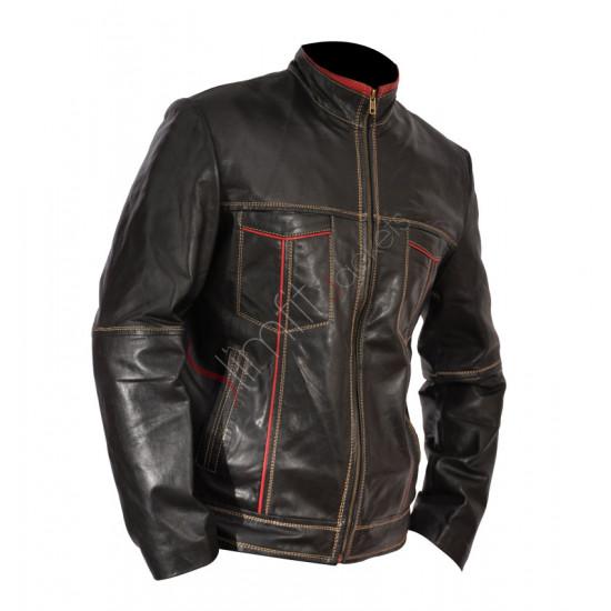 Cafe Racer Motorcycle Black Leather Jacket