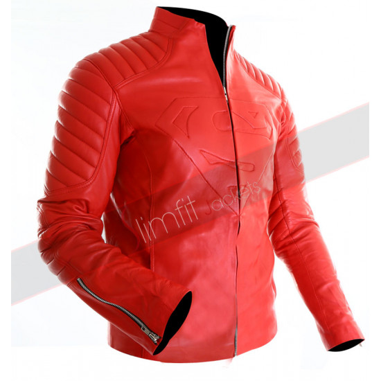 Superman Replica Smallville Red Leather Jacket