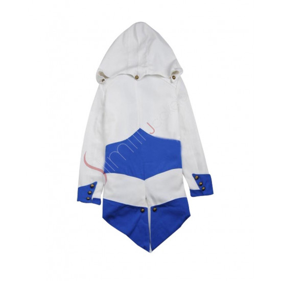 Assassin's Creed iii Connor Kenway Casual Blue/White Jacket Cosplay Costume