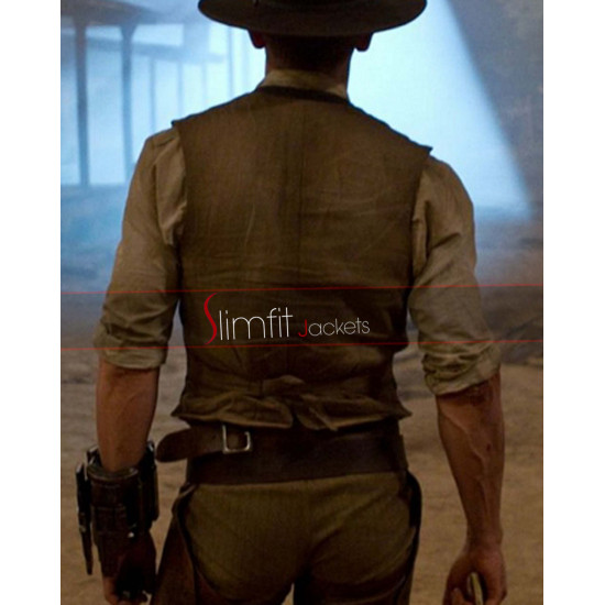 Cowboys & Aliens Daniel Craig (Jake Lonergan) Leather Vest