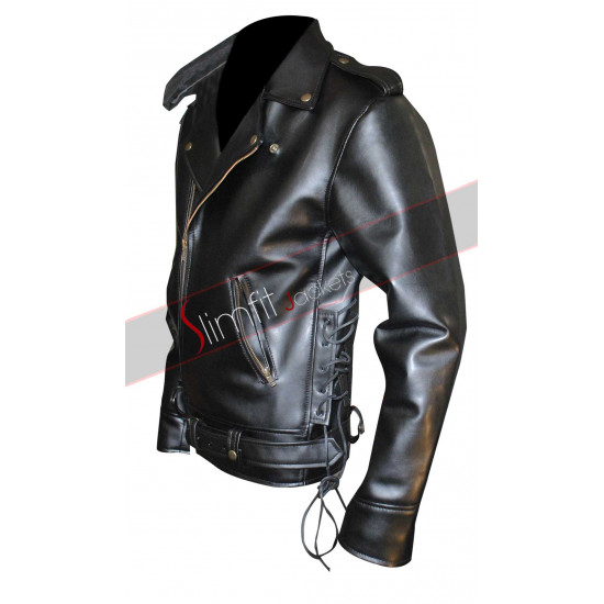 Johnny Depp Cry Baby Motorcycle Black Jacket