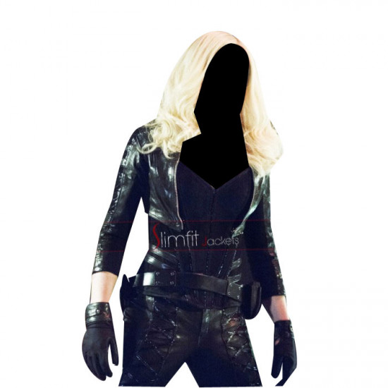 Arrow Season 2 Caity Lotz Black Canary Cosplay Costume