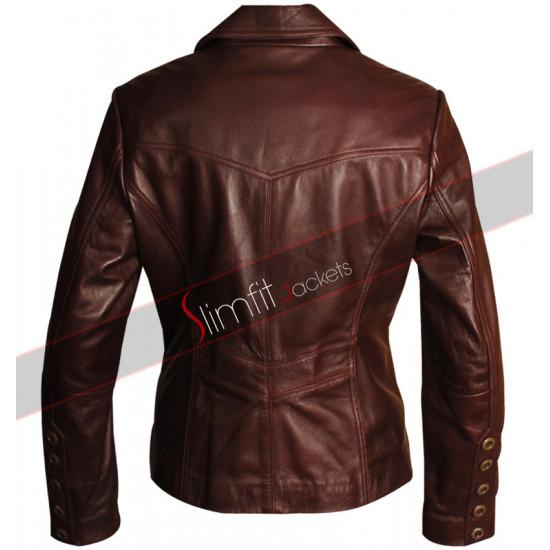 Slim Fit Dark Brown & Black Women's Blazer