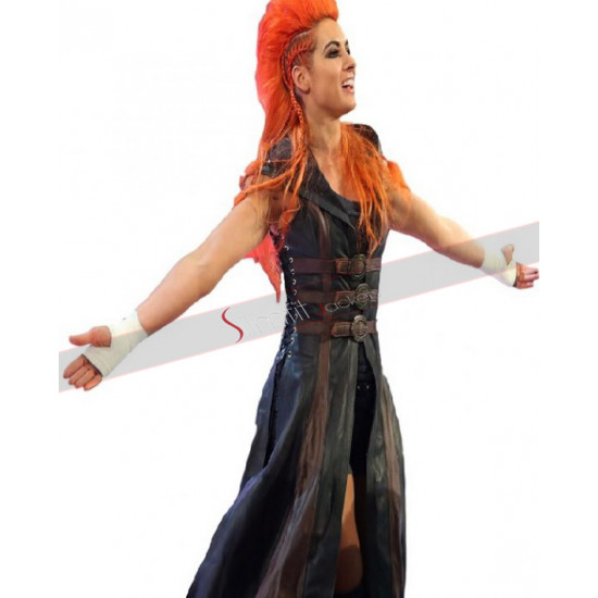 WWE Becky Lynch Leather Hoodie Coat