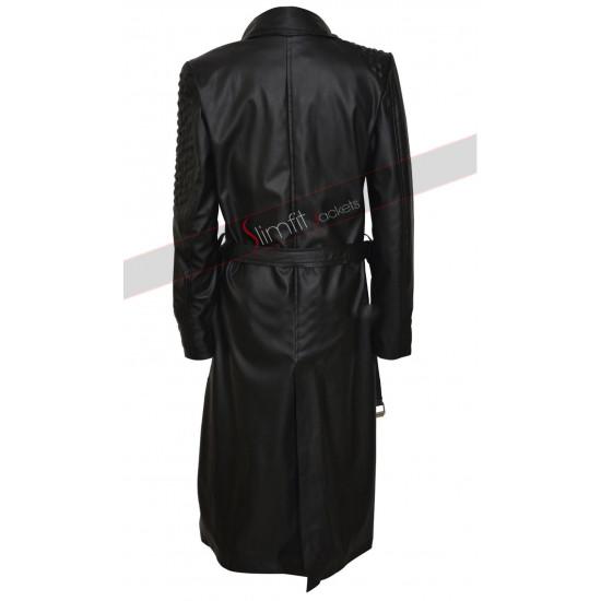 Deadpool Brianna Hildebrand Leather Coat
