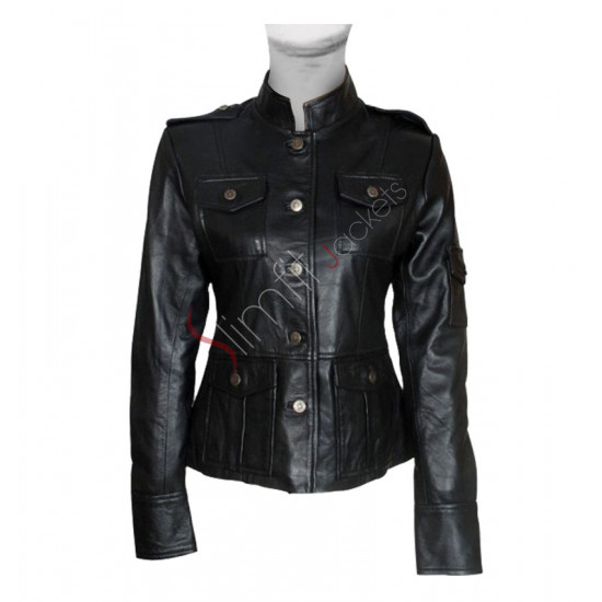 Get Smart: A Hathaway (Agent 99) Black Leather Jacket