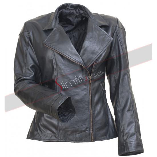 Michelle Pfeiffer Beverly Hills Black Leather Jacket