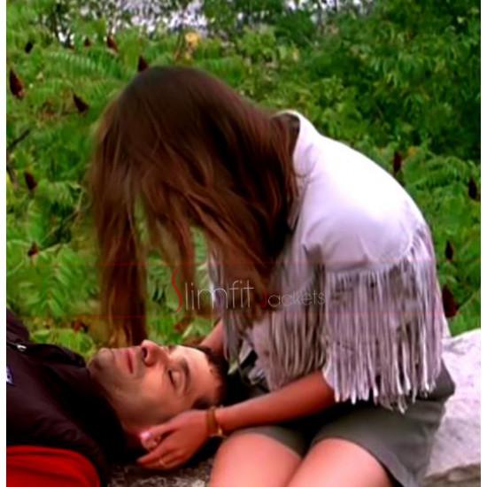 Replica Sloane Peterson Fringe White Jacket in Ferris Bueller's Day Off
