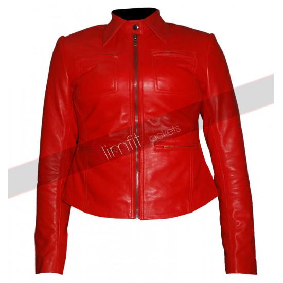 Emma Swan Once Upon a Time Jennifer Morrison Red Leather Jacket